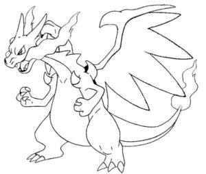 coloriage pokemon dracaufeu x de la catégorie coloriage pokemon