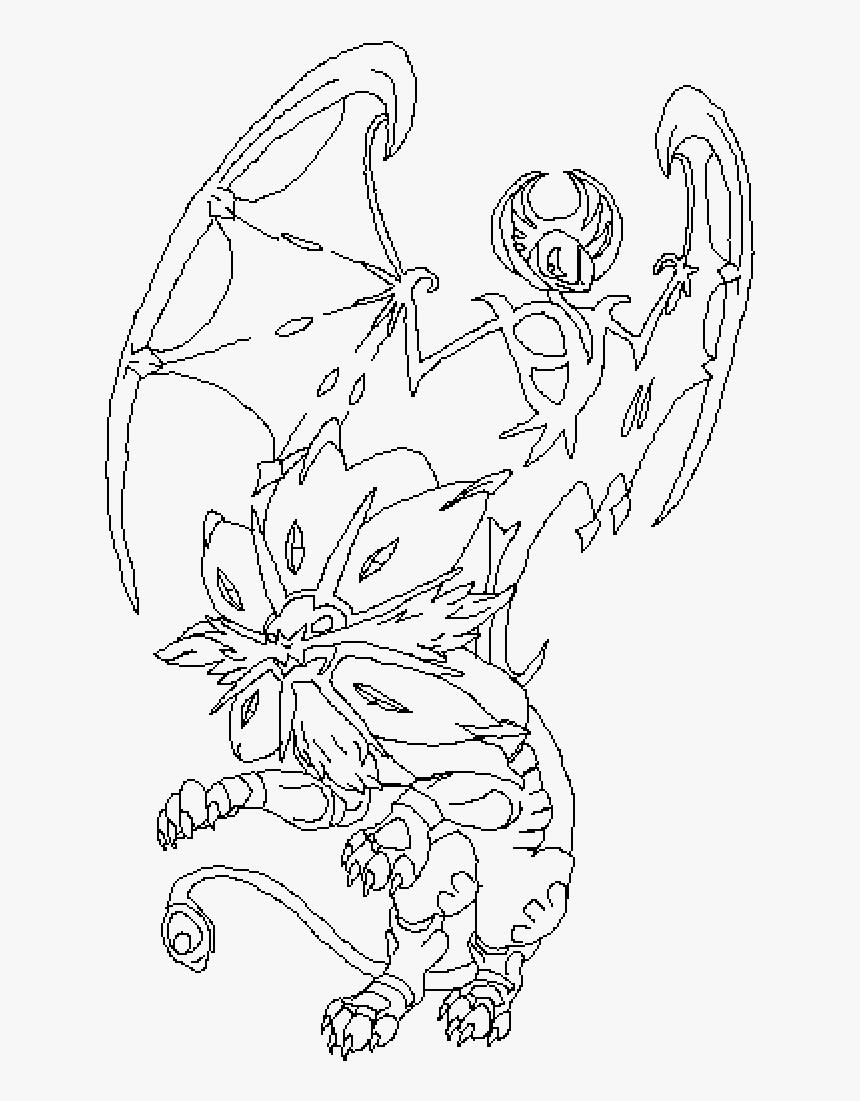 dessin pokemon solgaleo et lunala de la catégorie coloriage pokemon