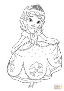 coloriage princesse sofia de la catégorie coloriage princesse