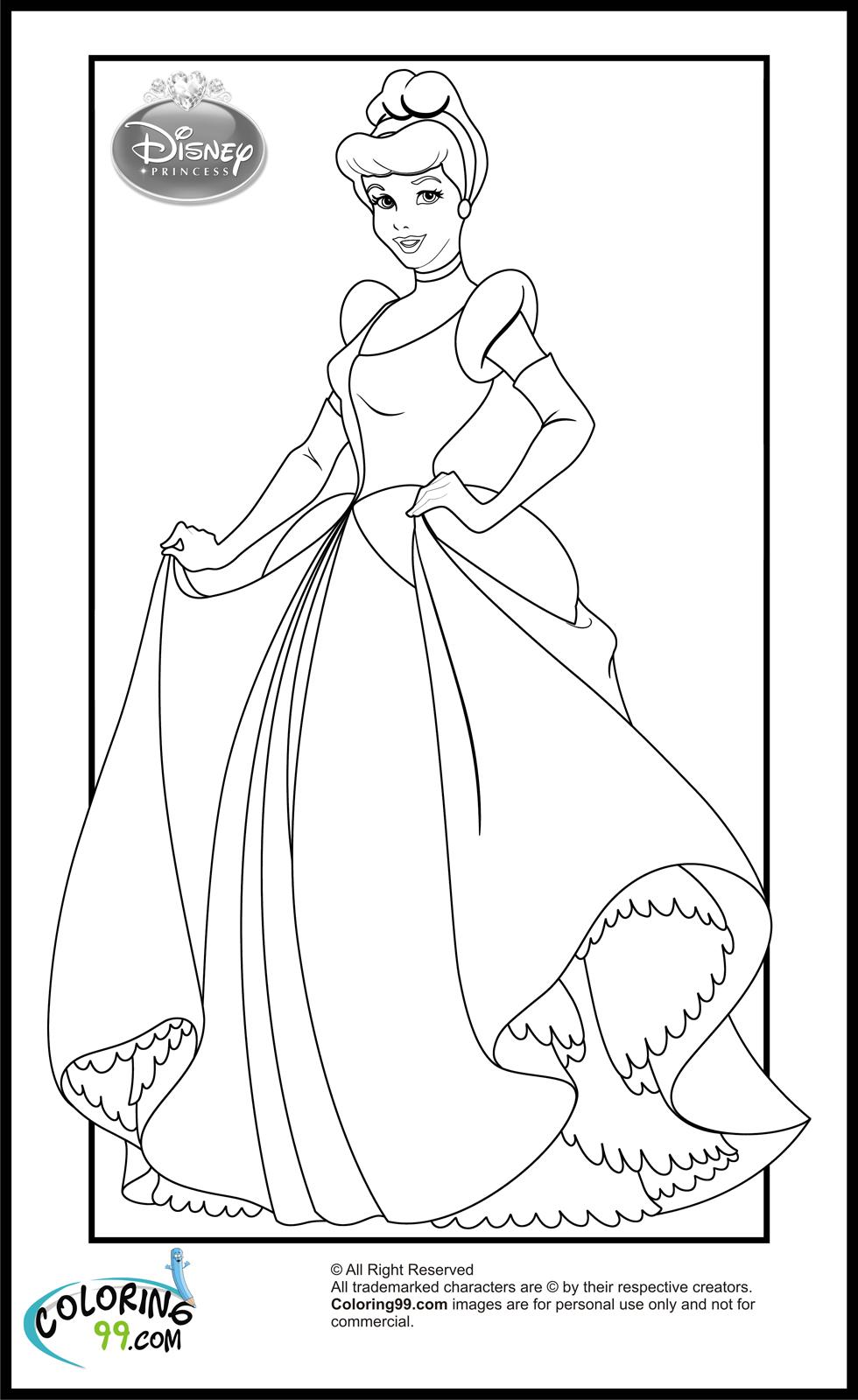 coloriage princesse disney a colorier en ligne de la catégorie coloriage princesse