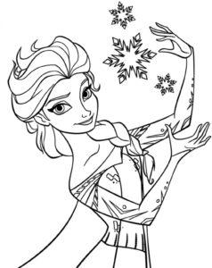 coloriage princesse elsa à imprimer gratuit de la catégorie coloriage princesse