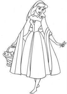 coloriage princesse aurore à imprimer de la catégorie coloriage princesse
