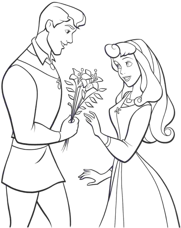 coloriage princesse aurore à imprimer gratuit de la catégorie coloriage princesse
