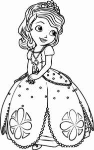 coloriage princesse sofia avec modele de la catégorie coloriage princesse