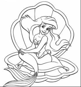 coloriage princesse ariel à imprimer gratuit de la catégorie coloriage princesse