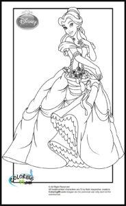 coloriage princesse disney gratuit de la catégorie coloriage princesse disney