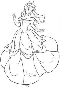 dessin a colorier princesse disney gratuit de la catégorie coloriage princesse disney