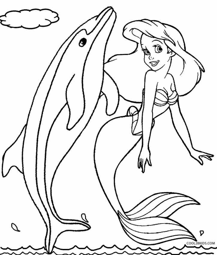 coloriage sirene dauphin de la catégorie coloriage sirene
