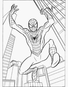 coloriage spiderman à imprimer pdf de la catégorie coloriage spiderman