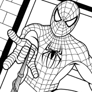 coloriage spiderman à imprimer a4 de la catégorie coloriage spiderman
