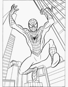 coloriage spiderman à imprimer de la catégorie coloriage spiderman