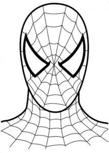 coloriage spiderman facile de la catégorie coloriage spiderman