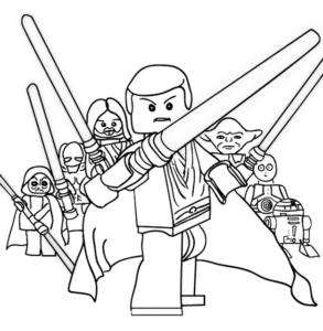 dessin coloriage star wars lego de la catégorie coloriage star wars
