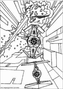 coloriage lego star wars vaisseau de la catégorie coloriage star wars