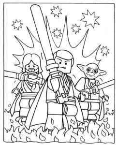 coloriage star wars lego de la catégorie coloriage star wars