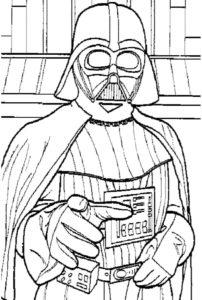 dessin a colorier star wars gratuit de la catégorie coloriage star wars