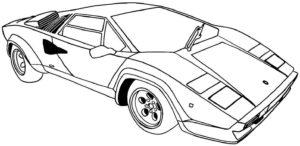 coloriage voiture de sport à imprimer de la catégorie coloriage voiture