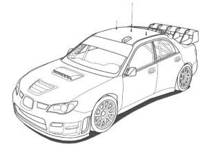coloriage de voiture de rallye subaru de la catégorie coloriage voiture