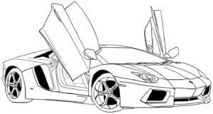 coloriage de voiture pour maternelle de la catégorie coloriage voiture