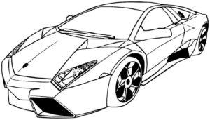 coloriage de voiture sportive de la catégorie coloriage voiture