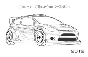 image a colorier voiture de rallye de la catégorie coloriage voiture