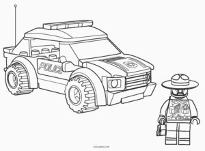 coloriage voiture de police lego de la catégorie coloriage voiture