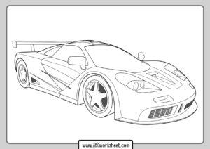 coloriage voiture de course ferrari de la catégorie coloriage voiture