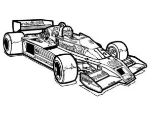 coloriage cars voiture de course de la catégorie coloriage voiture