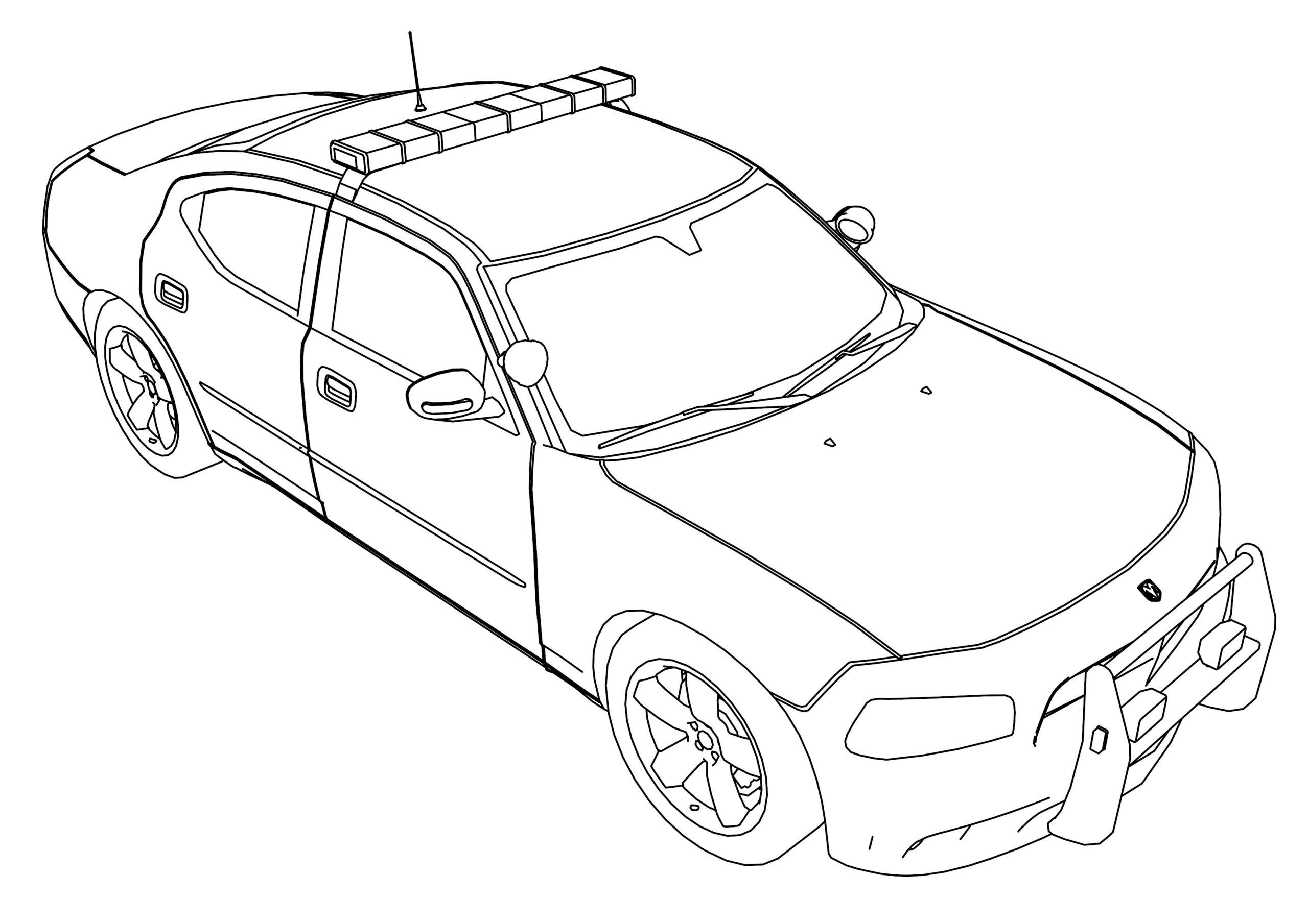 colorier voiture de police de la catégorie coloriage voiture