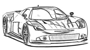 coloriage voiture de course bmw de la catégorie coloriage voiture